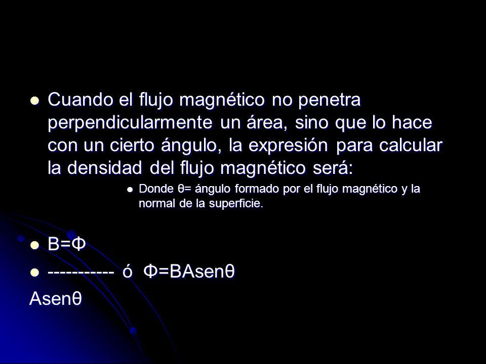 ----------- ó Φ=BAsenθ Asenθ