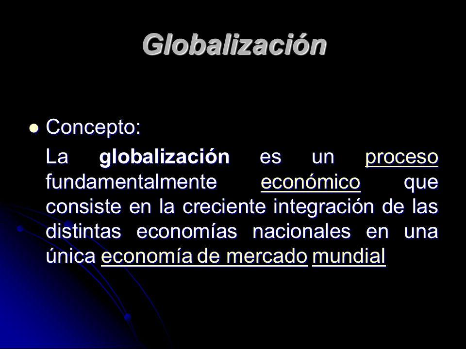 Globalización Concepto: