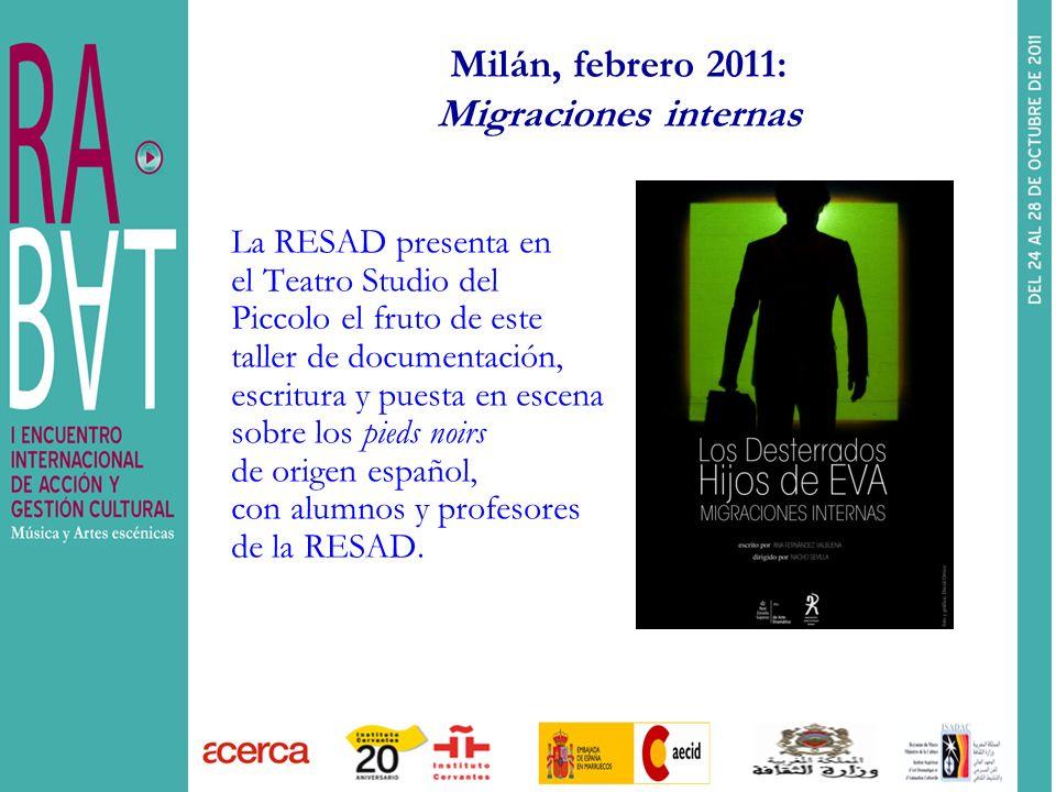 Milán, febrero 2011: Migraciones internas
