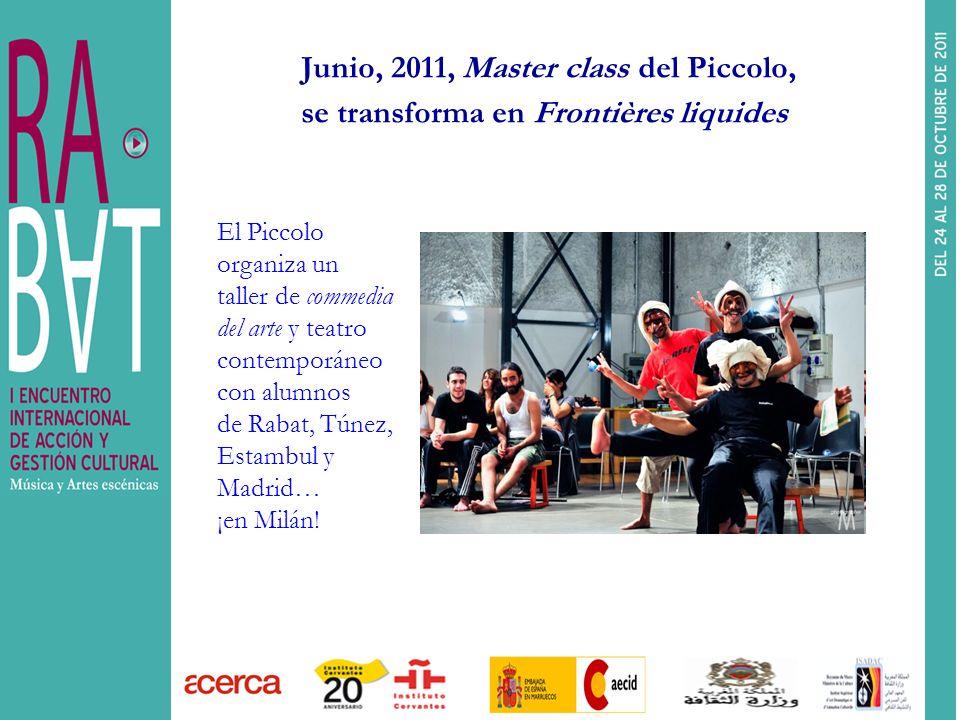 Junio, 2011, Master class del Piccolo, se transforma en Frontières liquides