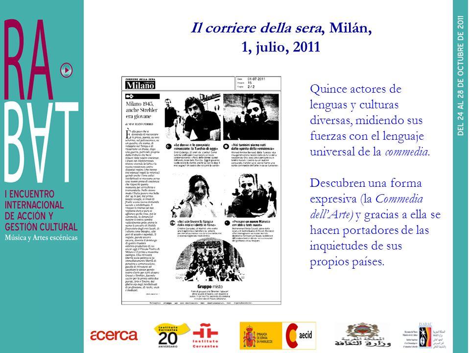 Il corriere della sera, Milán, 1, julio, 2011