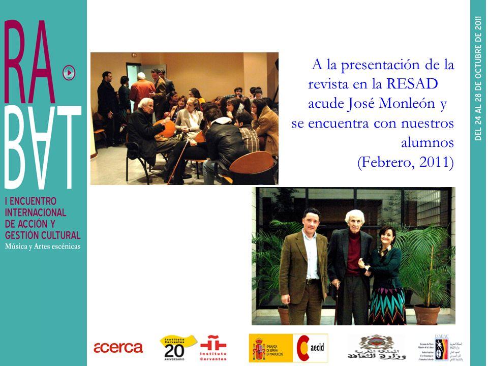 A la presentación de la. revista en la RESAD. acude José Monleón y