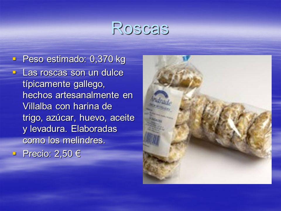 Roscas Peso estimado: 0,370 kg