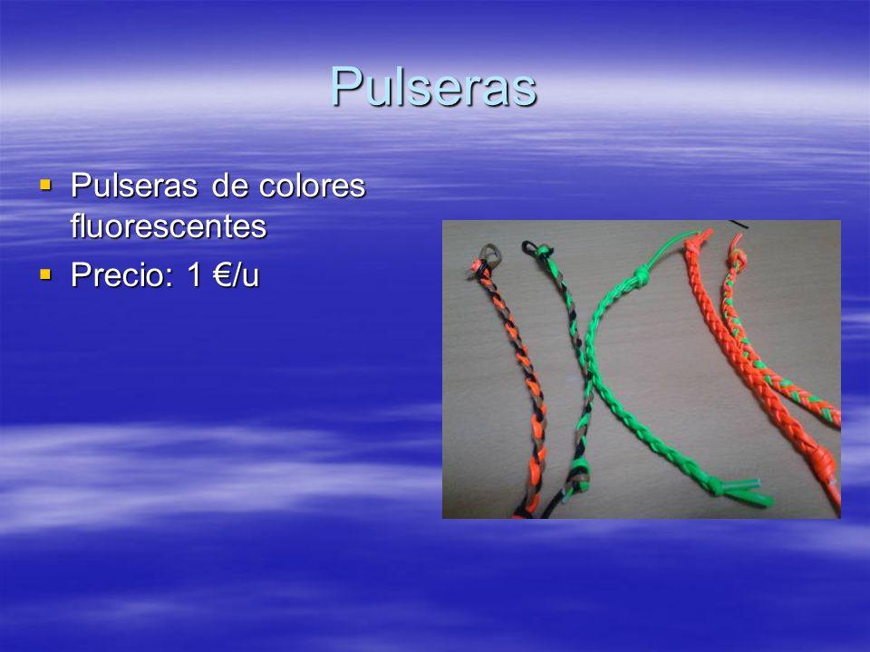 Pulseras Pulseras de colores fluorescentes Precio: 1 €/u