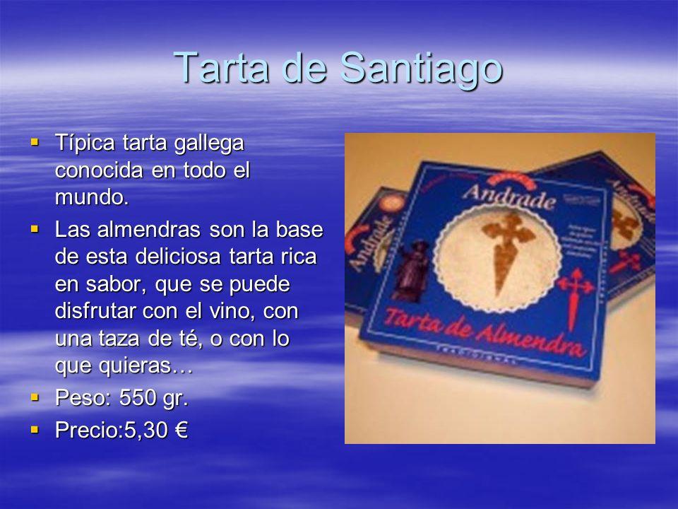 Tarta de Santiago Típica tarta gallega conocida en todo el mundo.