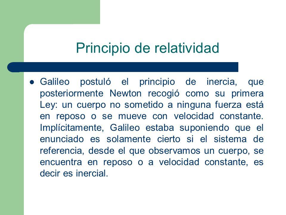 Principio de relatividad