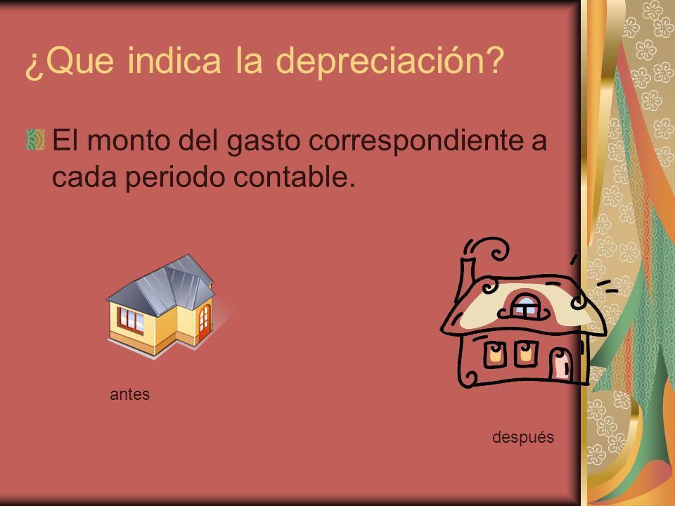 ¿Que indica la depreciación