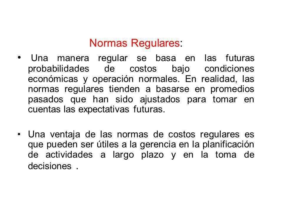 Normas Regulares:
