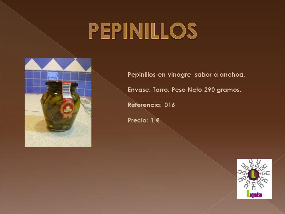pepinillos Pepinillos en vinagre sabor a anchoa.