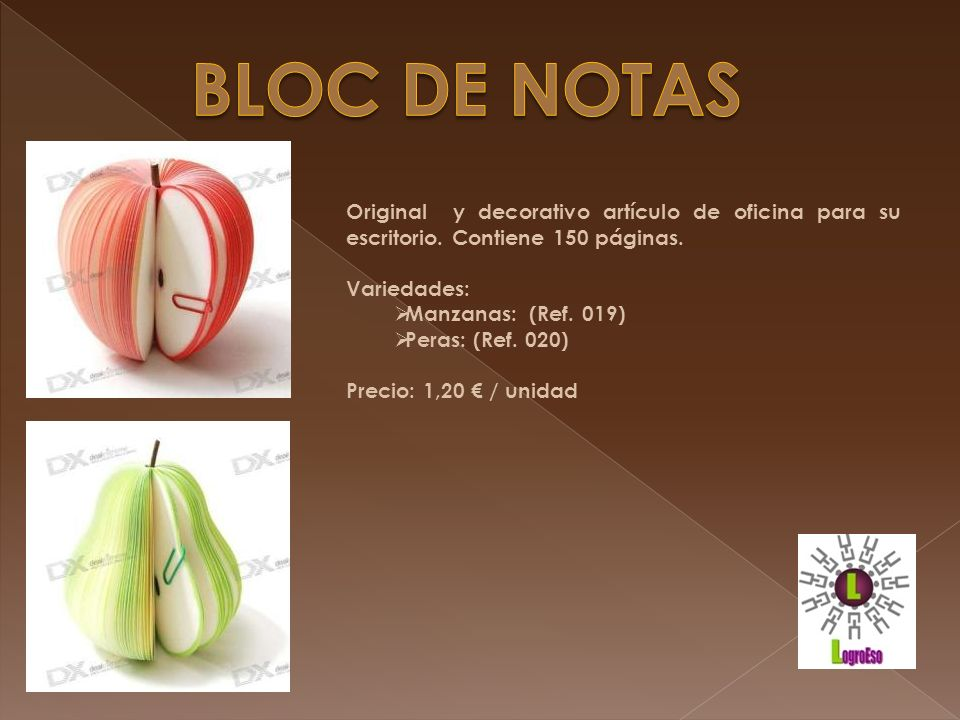 BLOC DE NOTAS Original y decorativo artículo de oficina para su escritorio. Contiene 150 páginas. Variedades: