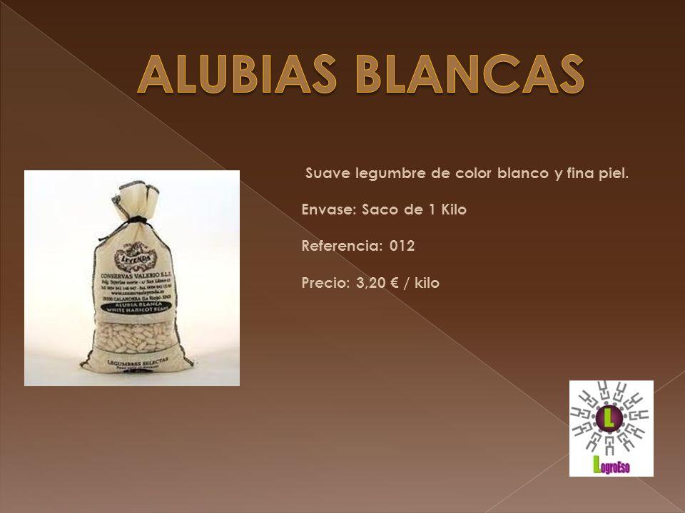 ALUBIAS BLANCAS Suave legumbre de color blanco y fina piel.