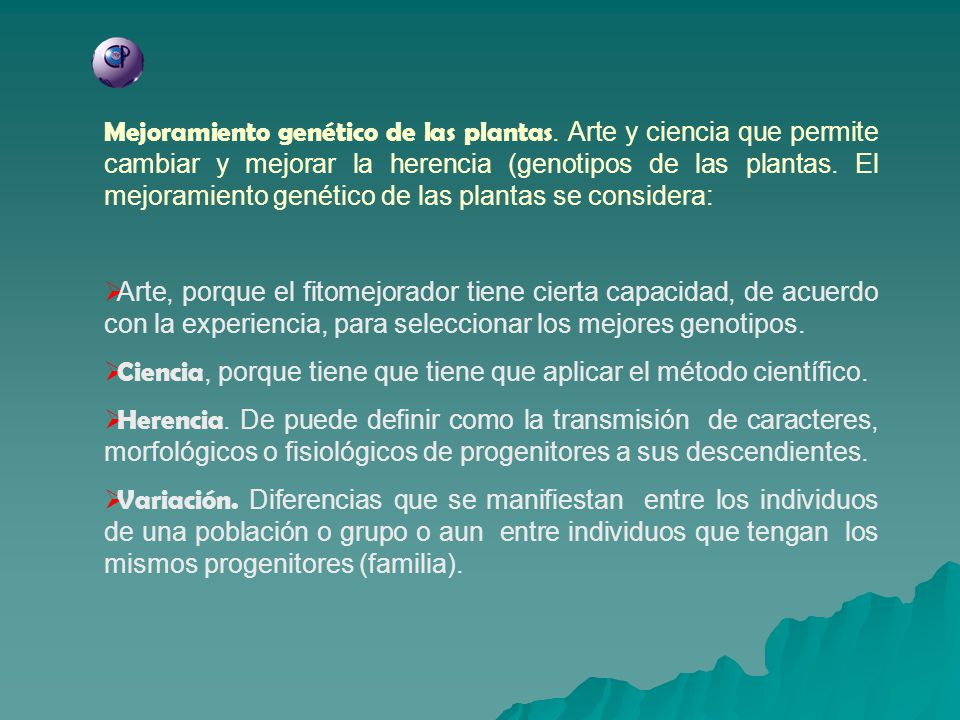 Mejoramiento genético de las plantas