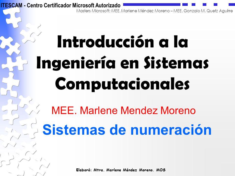 Introducción a la Ingeniería en Sistemas Computacionales