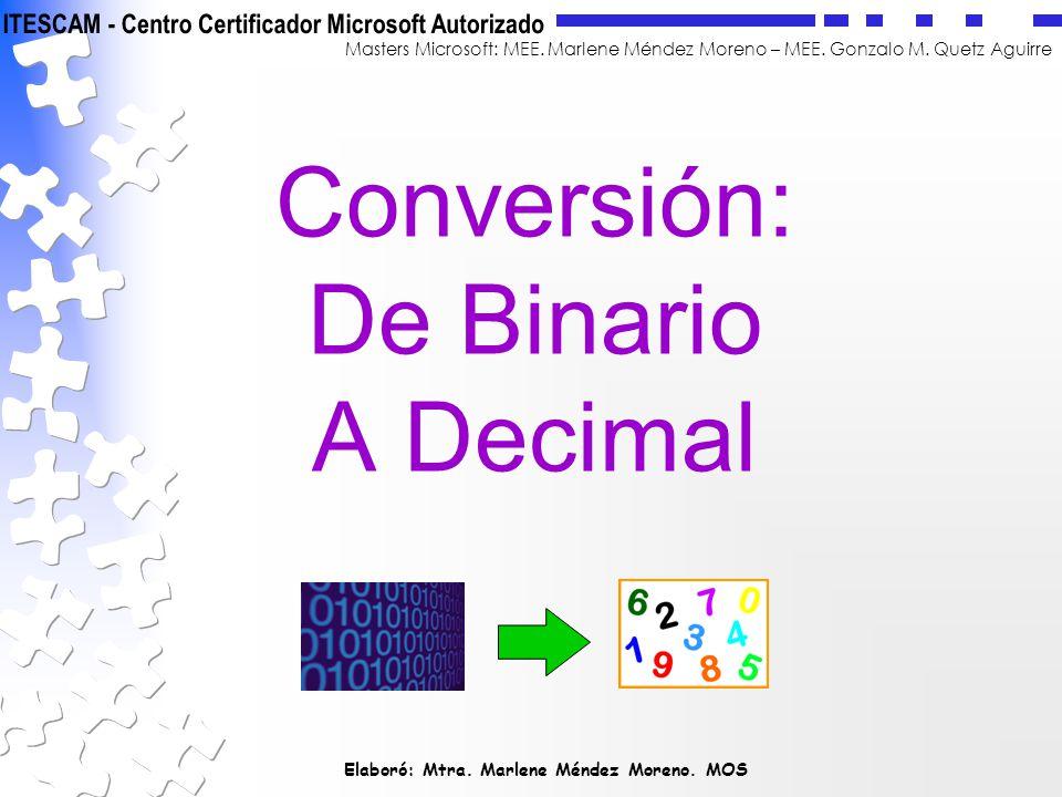 Conversión: De Binario A Decimal