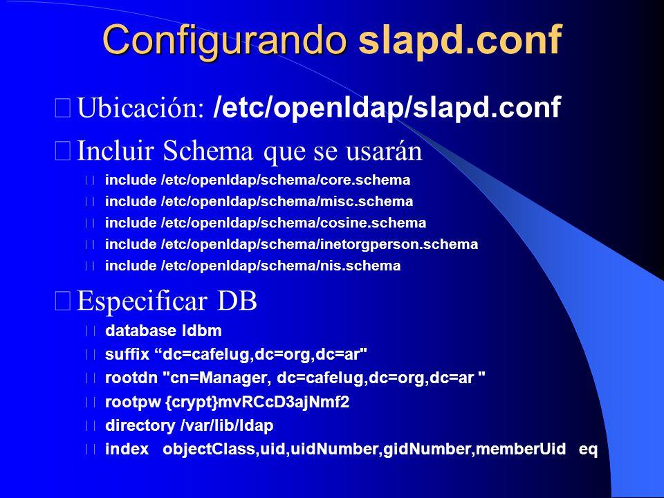 Configurando slapd.conf
