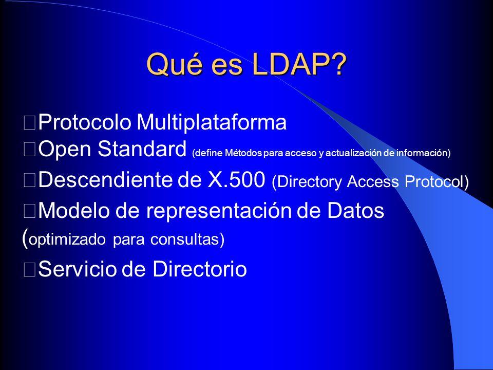 Qué es LDAP Protocolo Multiplataforma