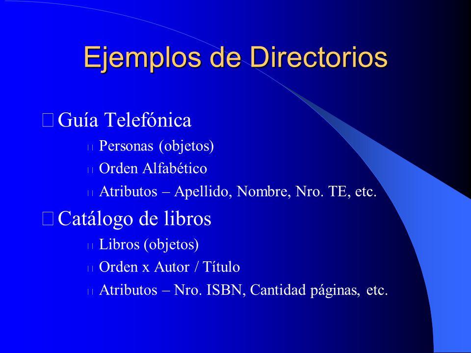 Ejemplos de Directorios