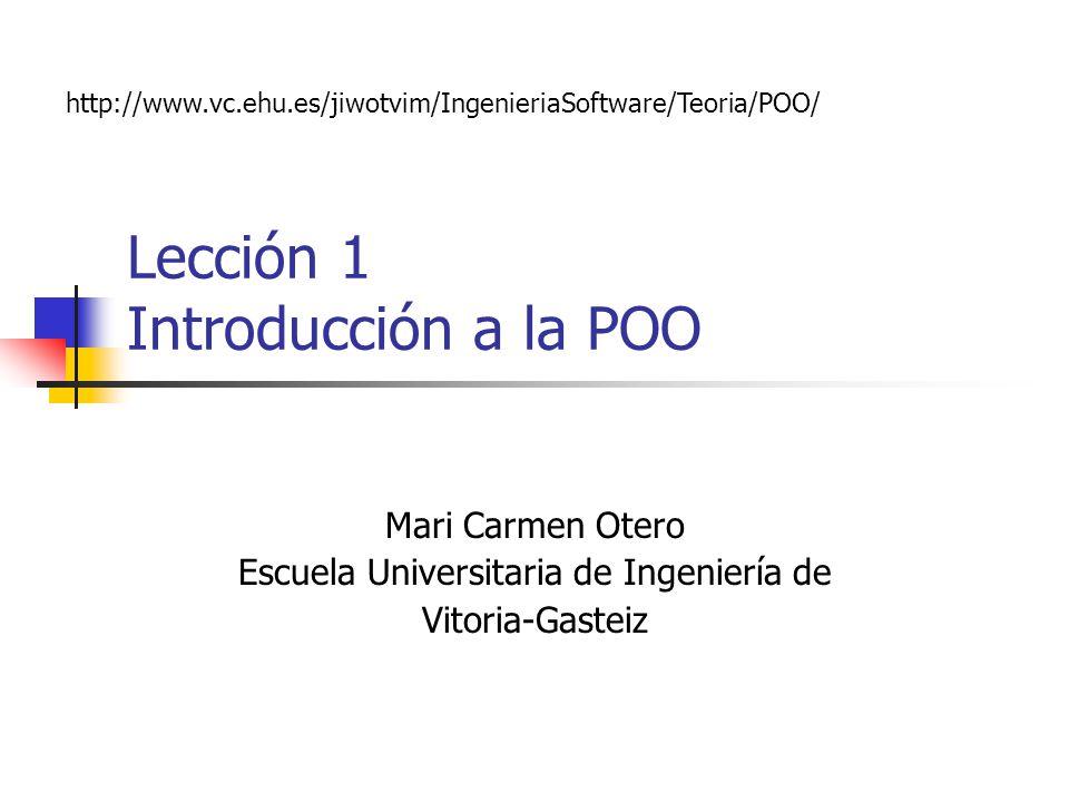 Lección 1 Introducción a la POO