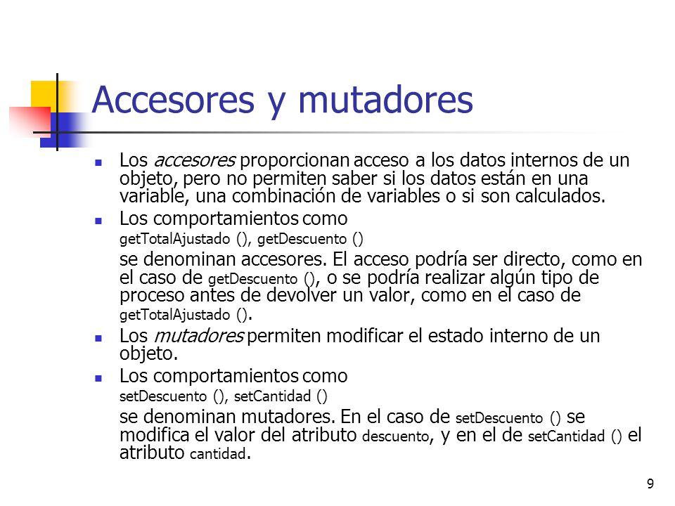 Accesores y mutadores