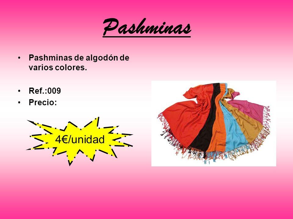 Pashminas 4€/unidad Pashminas de algodón de varios colores. Ref.:009