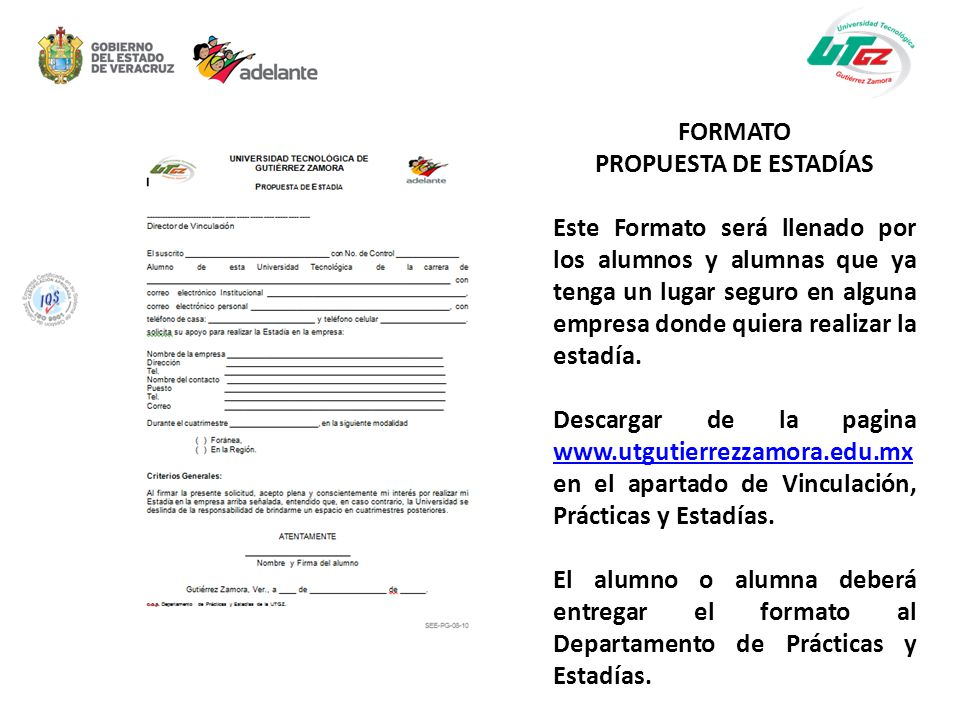 FORMATO PROPUESTA DE ESTADÍAS.