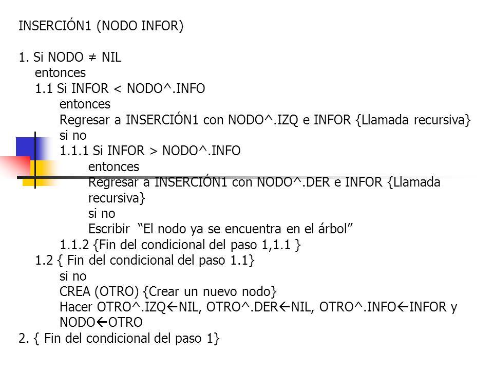 INSERCIÓN1 (NODO INFOR)
