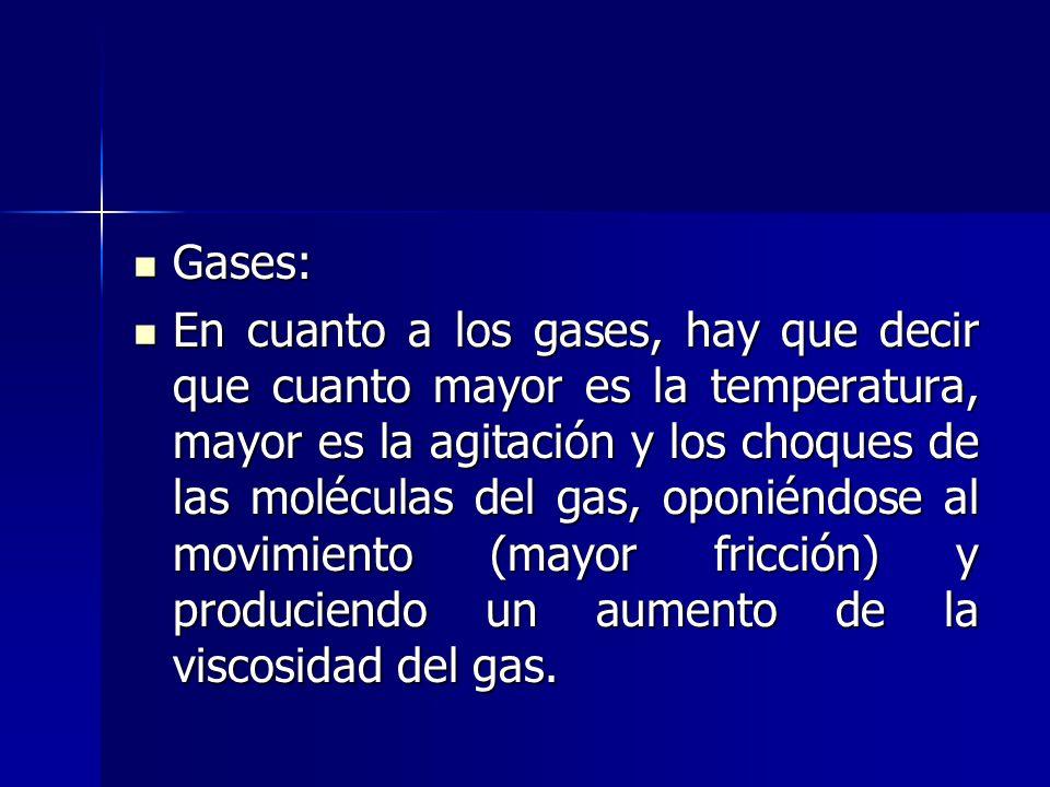 Gases: