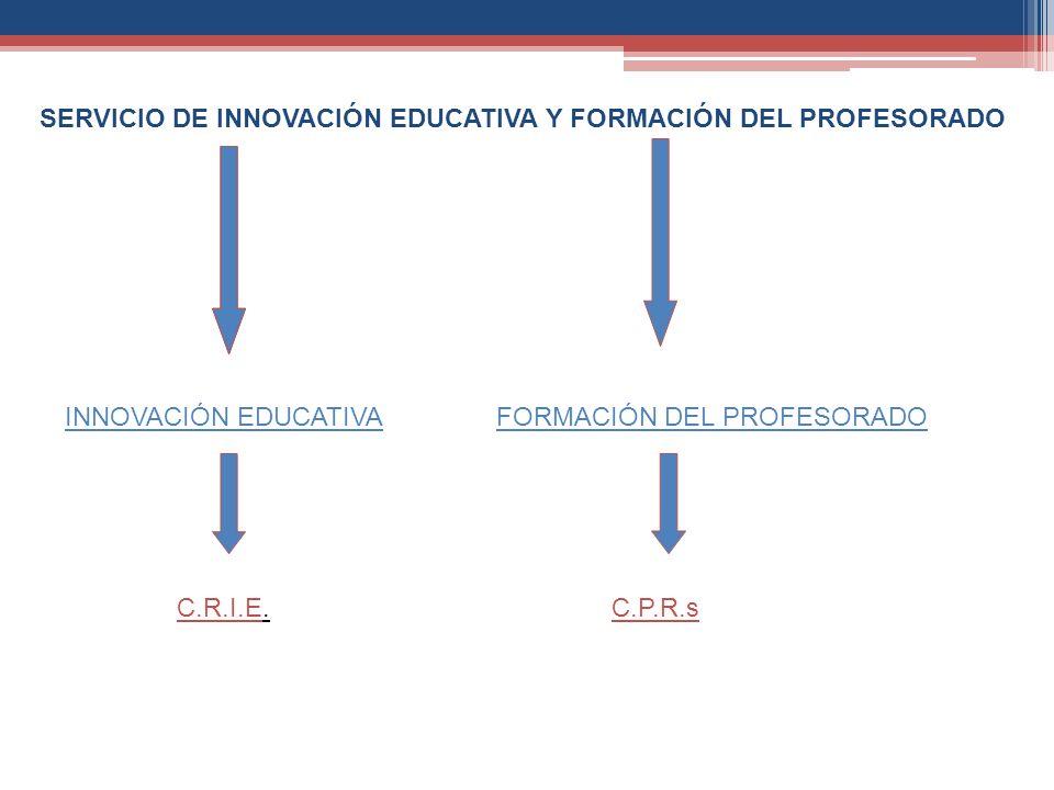 SERVICIO DE INNOVACIÓN EDUCATIVA Y FORMACIÓN DEL PROFESORADO