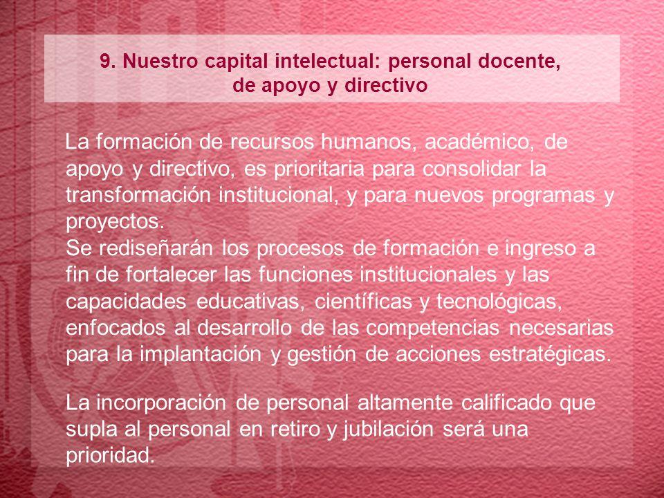 9. Nuestro capital intelectual: personal docente,