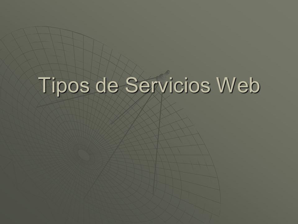 Tipos de Servicios Web