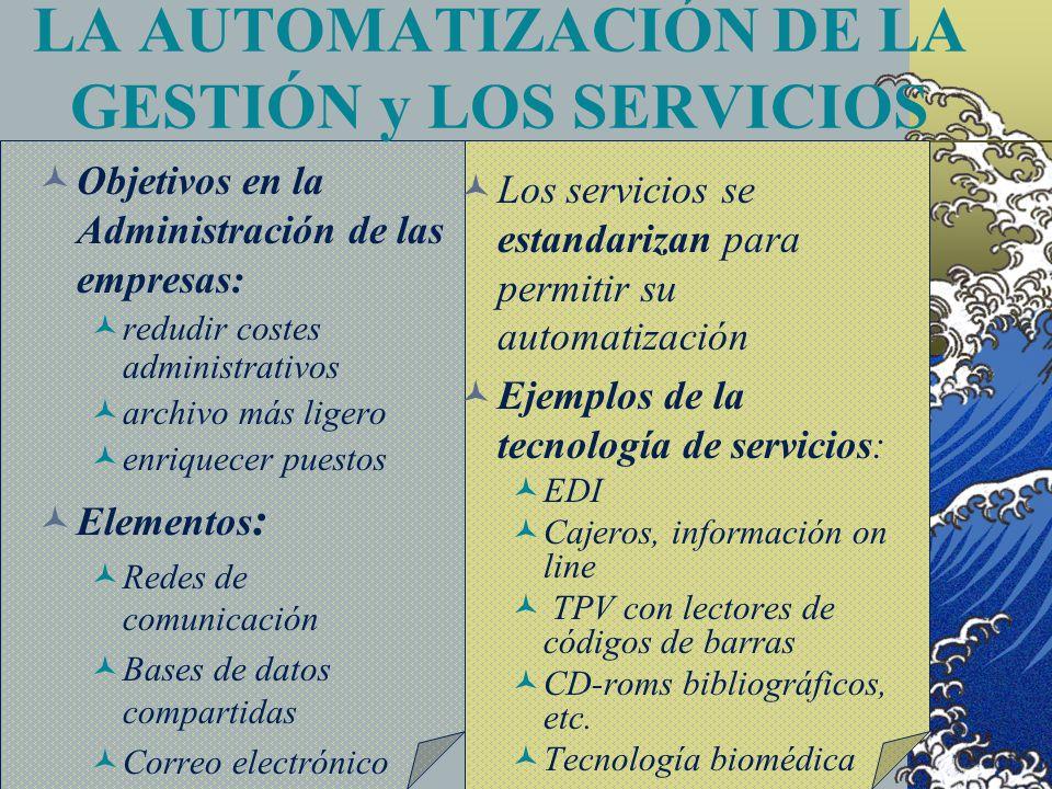 LA AUTOMATIZACIÓN DE LA GESTIÓN y LOS SERVICIOS