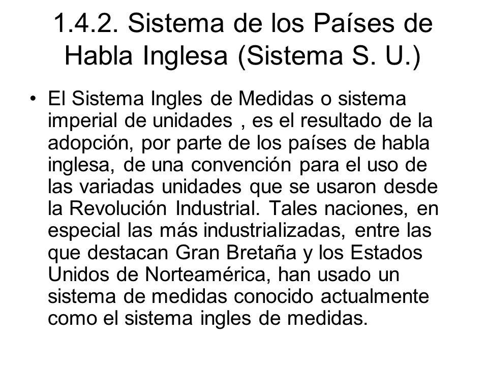 1.4.2. Sistema de los Países de Habla Inglesa (Sistema S. U.)