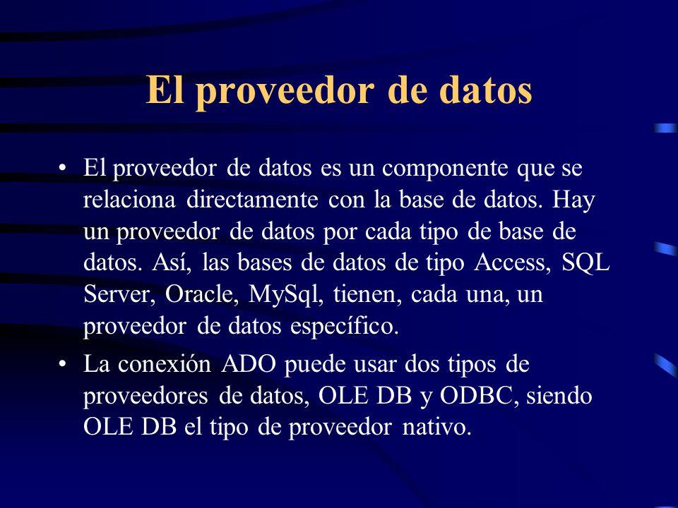 El proveedor de datos