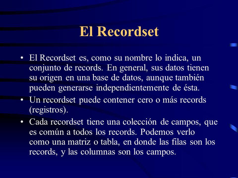 El Recordset
