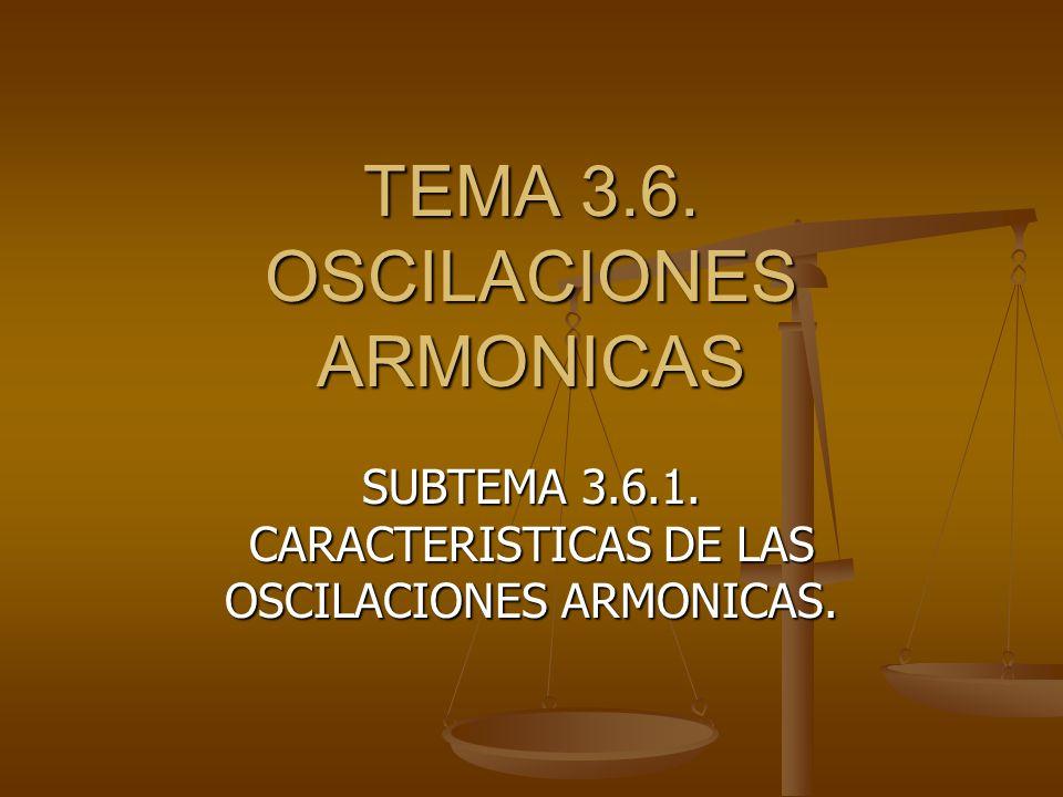 TEMA 3.6. OSCILACIONES ARMONICAS