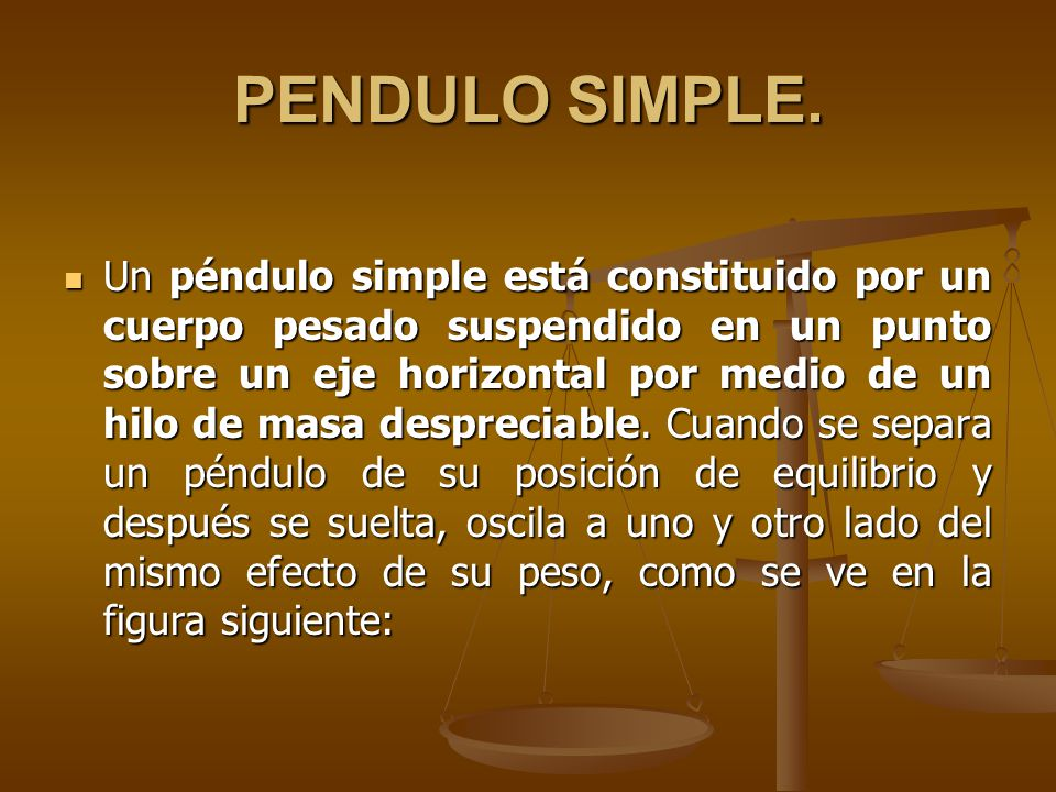 PENDULO SIMPLE.