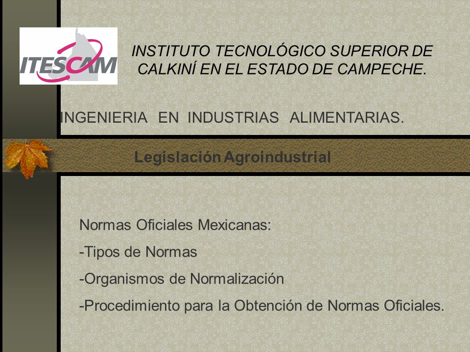 Legislación Agroindustrial