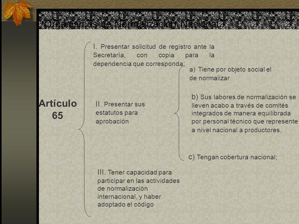 Organismos de Normalización Nacional.