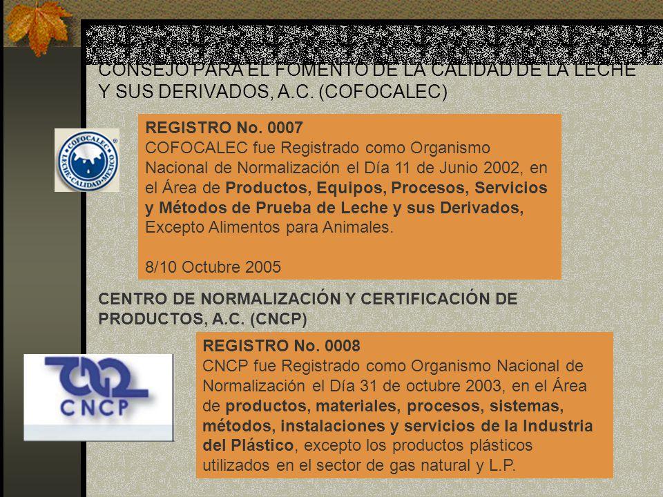 CONSEJO PARA EL FOMENTO DE LA CALIDAD DE LA LECHE Y SUS DERIVADOS, A.C. (COFOCALEC)