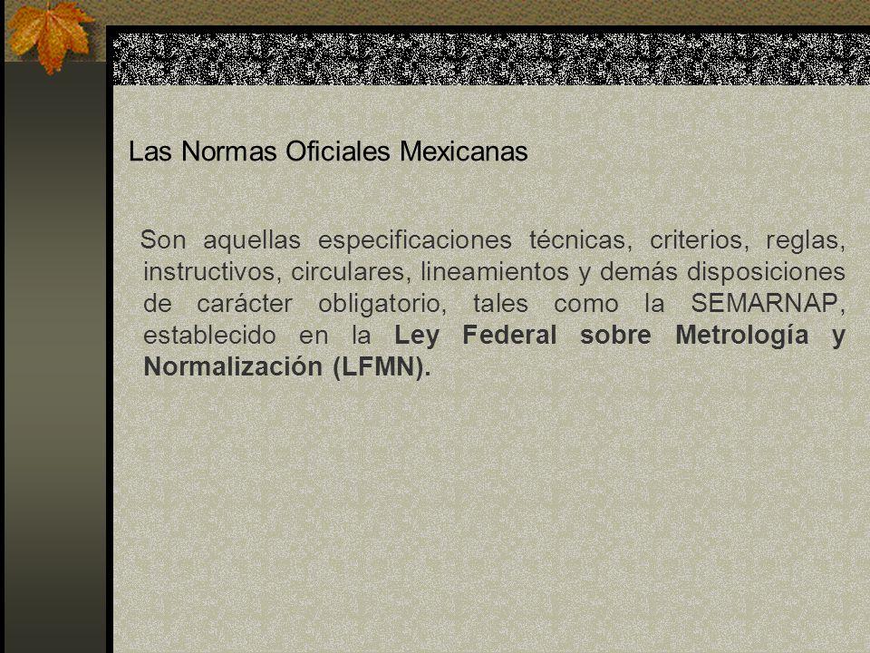 Las Normas Oficiales Mexicanas