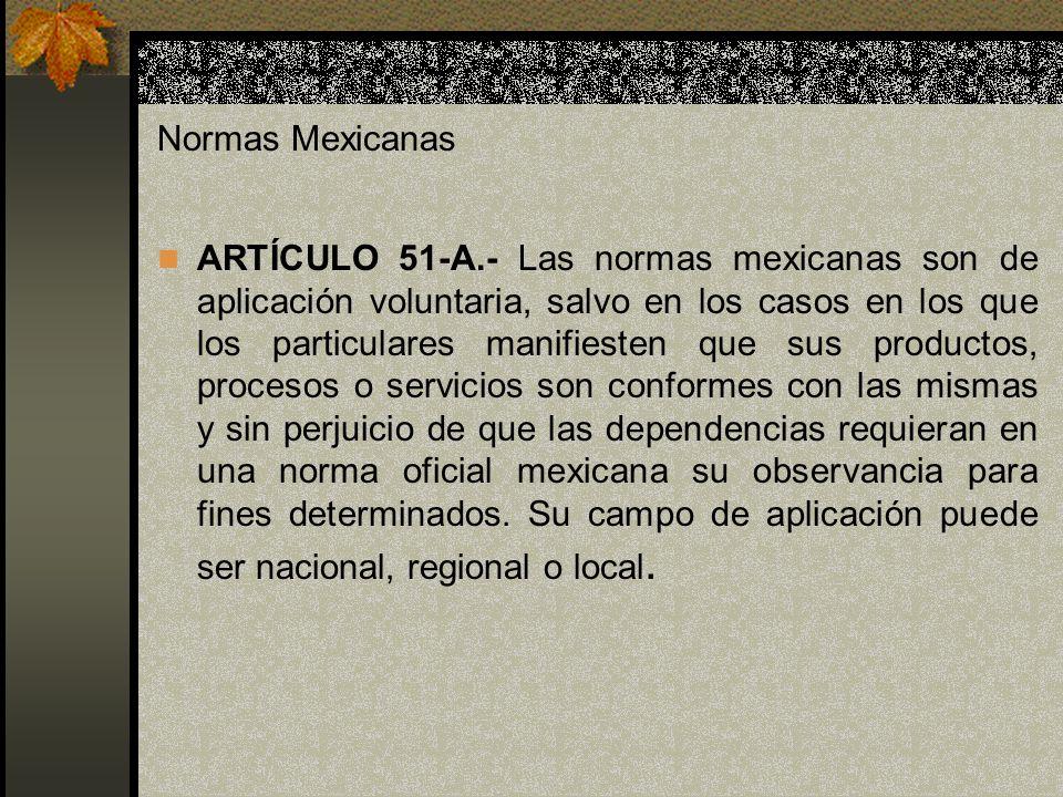 Normas Mexicanas