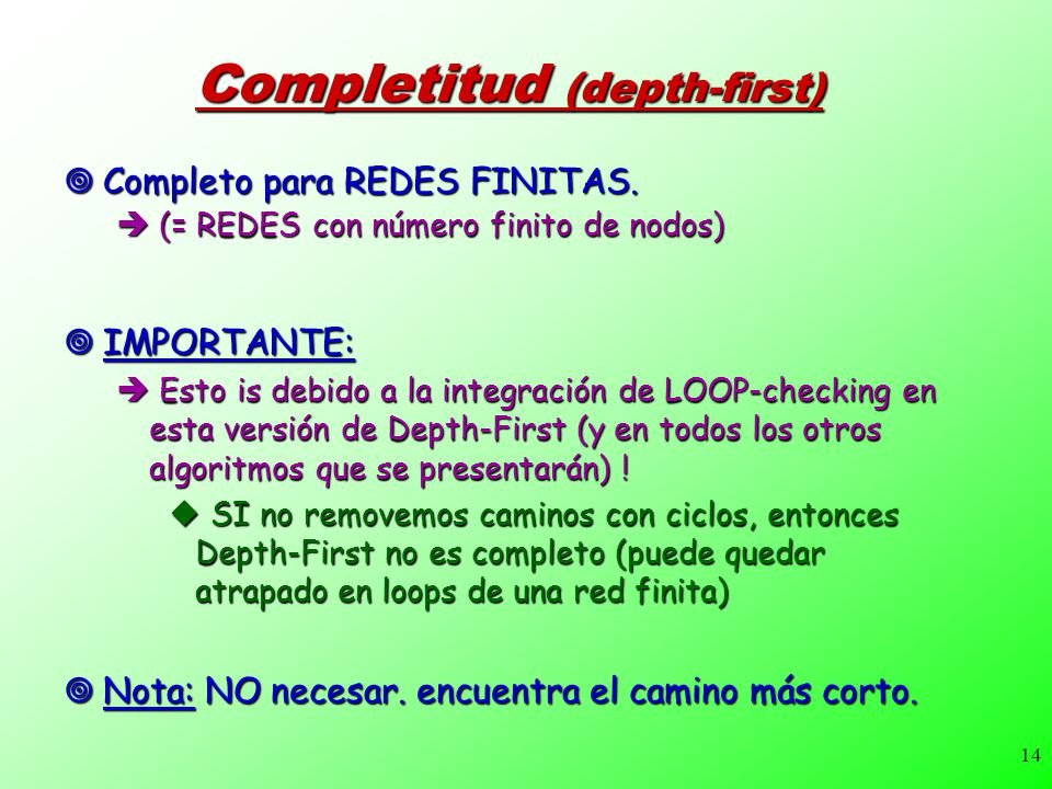 Completitud (depth-first)