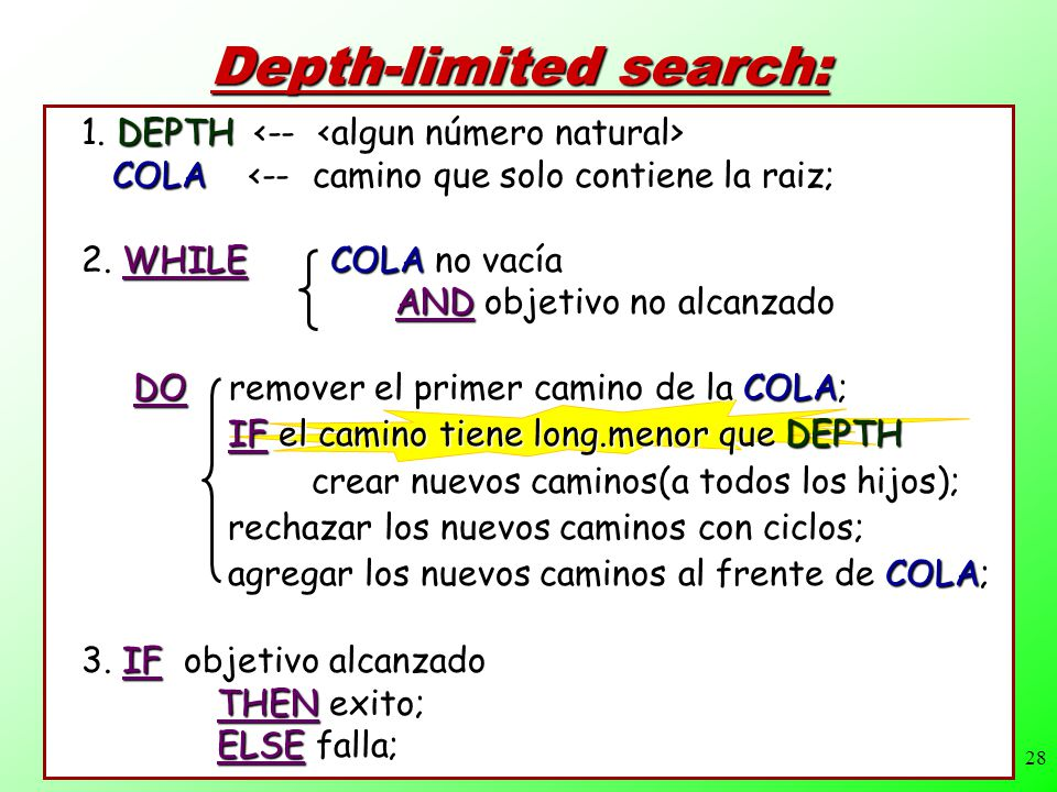 Depth-limited search: