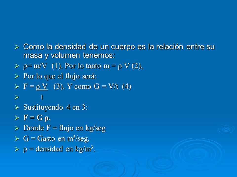 Como la densidad de un cuerpo es la relación entre su masa y volumen tenemos: