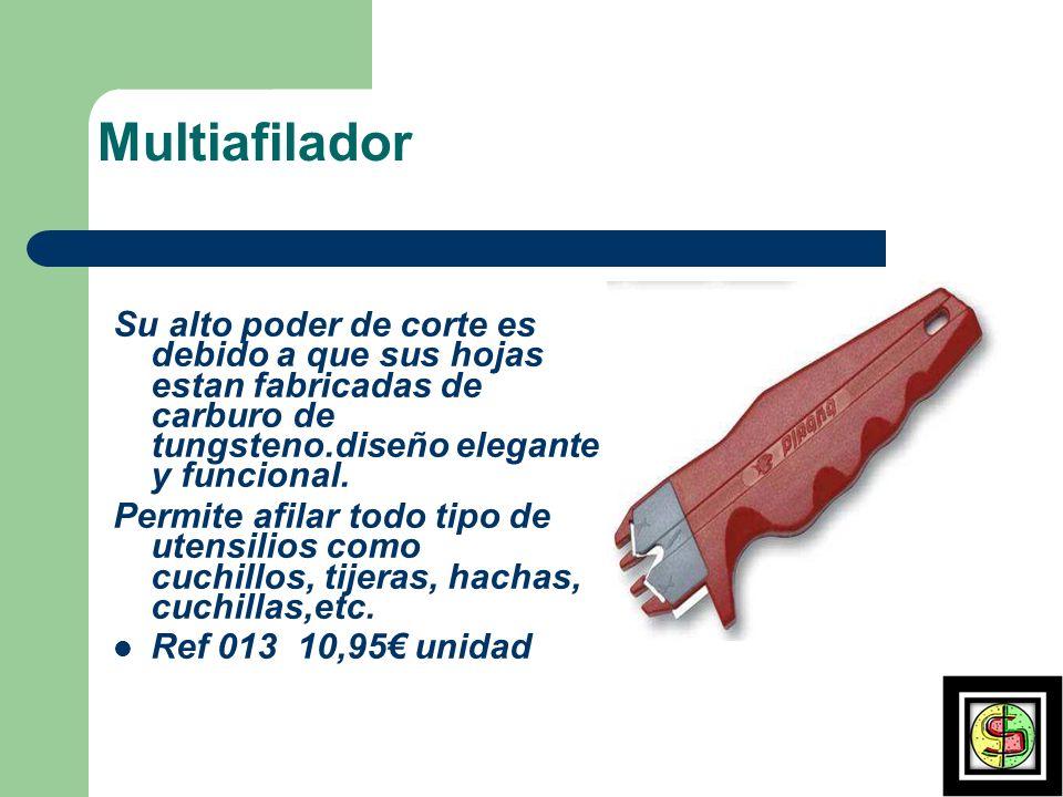 Multiafilador Su alto poder de corte es debido a que sus hojas estan fabricadas de carburo de tungsteno.diseño elegante y funcional.