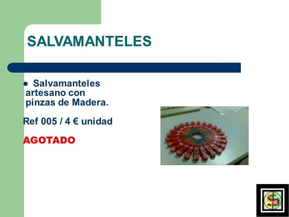 SALVAMANTELES Salvamanteles artesano con pinzas de Madera.