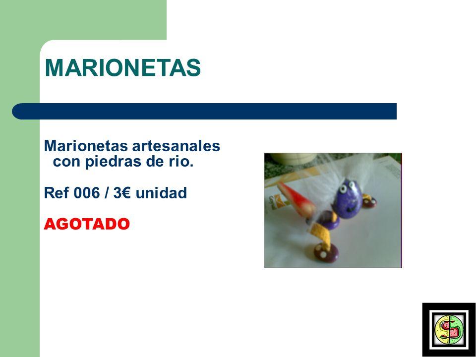 MARIONETAS Marionetas artesanales con piedras de rio.