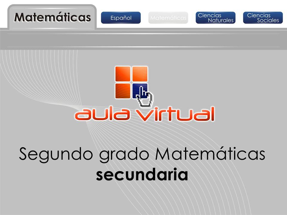 Segundo grado Matemáticas