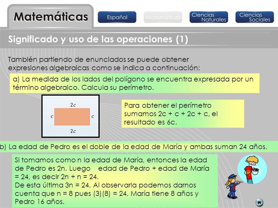 Significado y uso de las operaciones (1)