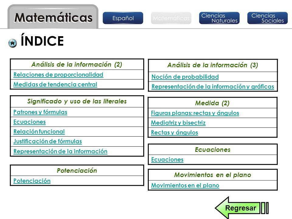 ÍNDICE Regresar Análisis de la información (3)